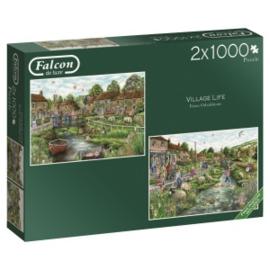 FALCON Village Life 2 x 1000 Stukjes