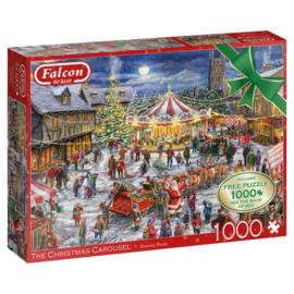 Falcon de Luxe The Christmas Carousel 2 x 1000 Stukjes