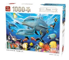 KING Dolphin Family 1000 Stukjes