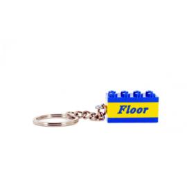 lego® sleutelhanger  met plaatje boven en onder