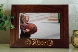 gepersonaliseerde bruine fotokader 10x15