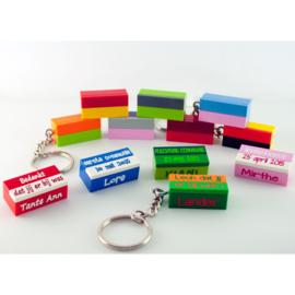 lego® sleutelhanger  met 2 smalle plaatjes