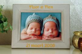 houten rustieke fotokader 10x15 geboorte