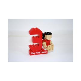 gepersonaliseerd lego® cijfer met figuurtje meisje of jongen
