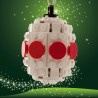 lego® gepersonaliseerde kerstbal ovaal