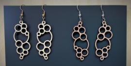 houten oorbellen cirkels