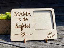 Houten gegraveerde fotokader mama/moederdag