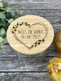 snoeppot huwelijk of huwelijksverjaardag