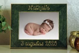 groene fotokader 10x15 geboorte