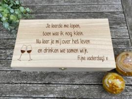 wijnkist/opbergkist 2 flessen papa/vaderdag