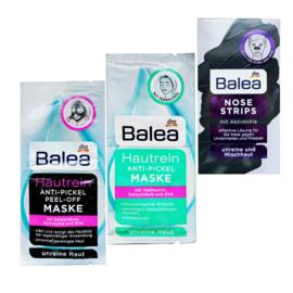 Balea anti-acné maskers geschenkset 3 stuks | Gezichtsmaskers verzorging puistjes
