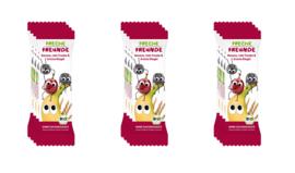 Freche Freunde Gedroogd Fruit Tussendoortje of fruitreep - 12 stuks - Smaak banaan, rode druif en appelbes - fruitrepen geschikt vanaf 12 maanden