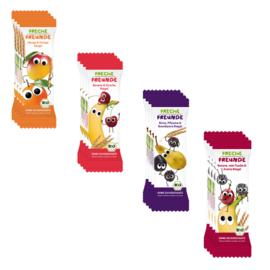 Freche Freunde Gedroogd Fruit Tussendoortje of fruitreep - 16 stuks - Mix van smaken- fruitrepen geschikt vanaf 12 maanden