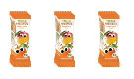 Freche Freunde Gedroogd Fruit Tussendoortje of fruitreep - 12 stuks - Smaak mango en sinaasappel - fruitrepen geschikt vanaf 12 maanden