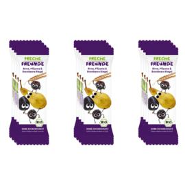 Freche Freunde Gedroogd Fruit Tussendoortje of fruitreep - 12 stuks - Smaak peer, bramen en pruimen- fruitrepen geschikt vanaf 12 maanden
