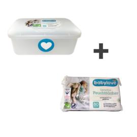Babylove Billendoekjesdoos - voor 52 tot 80 doekjes - 1 stuks - Vochtige billendoekjes doos