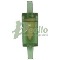 Terugslagventiel voor gebruik bij luchtpompen en CO2