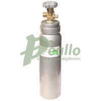 AquaHolland CO2 fles a 2500 ml. - grijs - vulgewicht 2,0 kg. - gevuld
