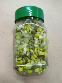 Pot grind 250ml groene glitter mix