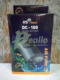 HS aqua luchtpomp DC - 100 op batterij