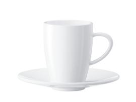 Jura Koffiekop en schotel 2 stuks