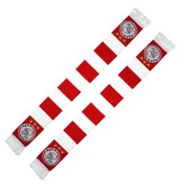 """Ajax sjaal """"rood-wit geblokt"""""""