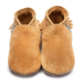 INCH BLUE MOCCASIN TAN SUEDE GRIPZ