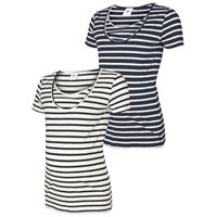 MAMA LICIOUS LEA ORG NELL S/S Y/D TOP NF 2PACK