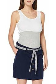MAMA LICIOUS CANCUN BELTED TWILL SKIRT OMBRE BLUE