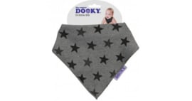 DOOKY DRIBBLE BIB GREY STAR