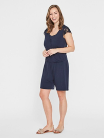 MAMA LICIOUS WENNY JERSEY SHORT JUMPSUIT NAVY