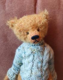 Uitverkocht! Handgemaakte teddybeer David