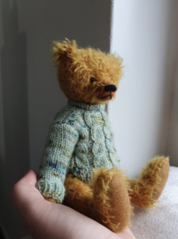 Handgemaakte teddybeer David