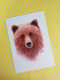 A6 enkele kaart beer