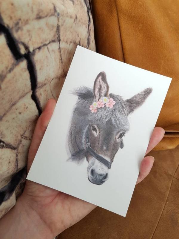 Postkaart Ezel