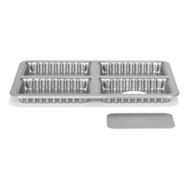 Patisse | Silver-Top Mini Quichevorm losse bodem 4 vaks