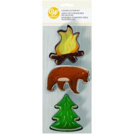Wilton   Cookie cutters Fire Bear & Tree (set/3)