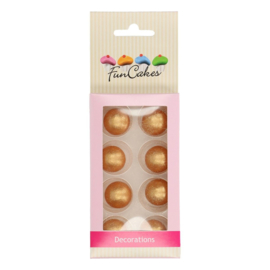 FunCakes | Chocoballetjes Parelmoer Goud Set/8