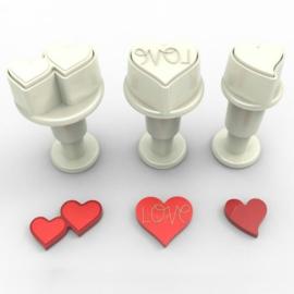 DekoFee | Plunger Cutters mini Heart Set (set/3)
