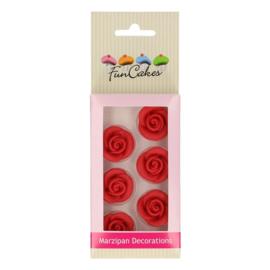 Funcakes | suikerfiguren rozen rood /8