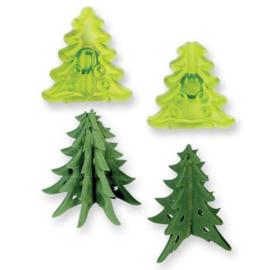 JEM | Kleine 3D Kerstboom Uitsteker(set/2)