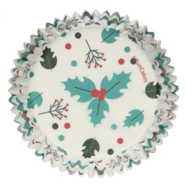 FunCakes | Baking Cups Holly Leaf (set/48)