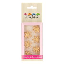 Funcakes | suikerfiguren sneeuwster goud/8