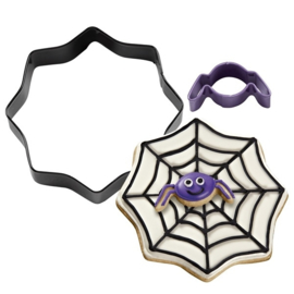 Cookie cutter set web and spider