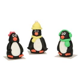 FunCakes   Suikerdecoratie 3D Pinguïn (set/3)