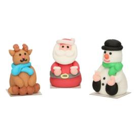 FunCakes   Suikerdecoratie 3D Kerstfiguren (set/3)