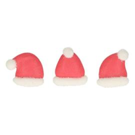 Funcakes | Suikerdecoratie Kerstmutsen (set/8)