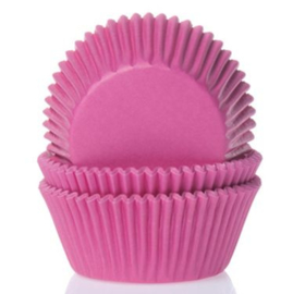 HoM   Baking Cups Hot pink (set/60) (mini)
