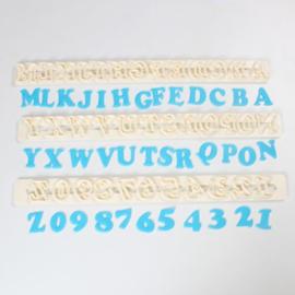 FMM   Art deco Alphatbet & number set (2 cm) Upper case