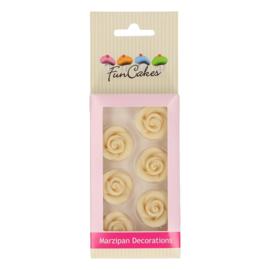 Funcakes   suikerfiguren rozen wit/6